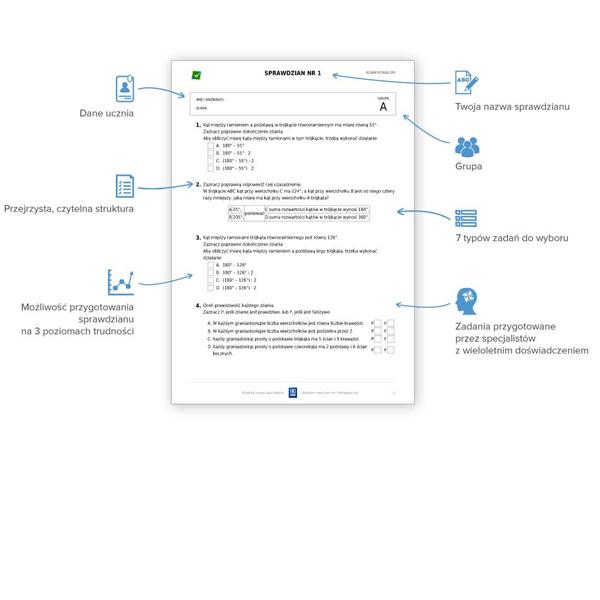 Zaktualizowano Klasowki.pl - Bezpłatny generator sprawdzianów dla nauczycieli RP05